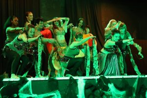 Shimmy School belly dancers at the Halloween Hafla 2016