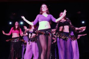 group belly dance performance