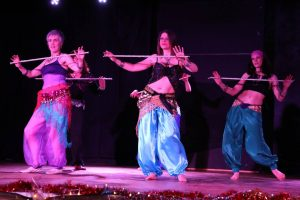belly dance group performance
