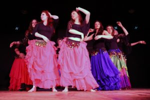 Shimmy School Belly Dance ladies performing