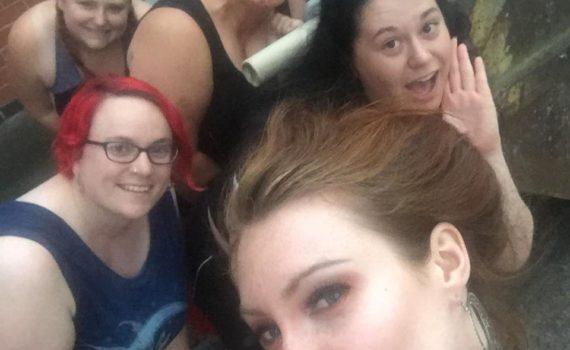 belly dancers selfie